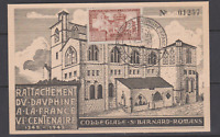 CARTE MAXIMUM FDC 1ER JOUR 1949 RATTACHEMENT DAUPHINE COLLEGIALE ROMANS