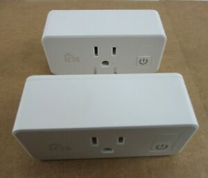 Lot of 2 Iris Smart Plug Outlet IL03 3rd Generation 2019 Works W/ SmartThings