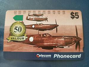 Mint $5 1995 WWII 50th Anniversary Ltd Edition Valour Phonecard Prefix 798