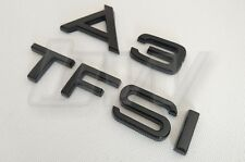 CUSTOM GLOSS BLACK A3 & TFSI BADGE SET LETTERING AUDI S LINE BLACK EDITION S3