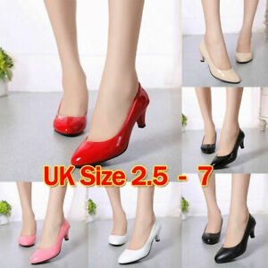2020 NEW LADIES WOMENS STILETTO HIGH HEEL COURT SHOES SIZE 2.5 3 4 5 6 7 HOT