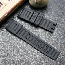 Rubber Watchband Black Diver Sport Men's Wristband For Invicta Watch Strap