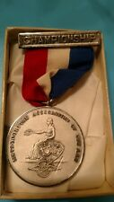 medal vintage 1952 AAU  sterling silver champion weight lifting Dieges & clust