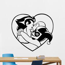 Joker Harley Quinn Kissing Wall Decal Superheroes Vinyl Sticker Mural 14zzz