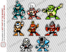 8bit Mega Man 4 Villain Cast Car/Refrigerator Magnets