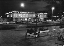 """AK, Berlin Mitte, Restaurant """"Moskau"""", Nachtansicht, 1966"""