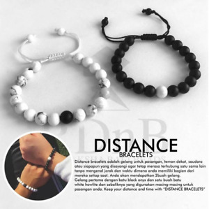 His & Hers Distance Hand Knitted Bracelet Lava Matching YinYang Love Couple Gift