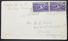 Centennial of Baseball Sport Stamp on US Cover Seattle 3c 1939 USA Brief (Y-576