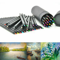 24 Colors Oil Art Pencils Drawing Sketching Artist Adult Non-toxic Colour Gift