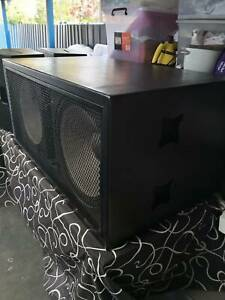 Quest HPI-218S 1400w Dual 18' Subwoofer and Quest Speakers