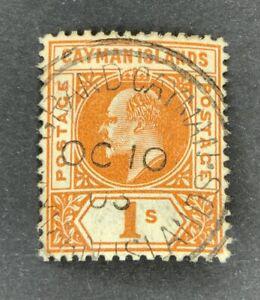 Agrome CAYMAN ISL. BRITISH 1902 SG# 7 used CV £ 120+ (2713