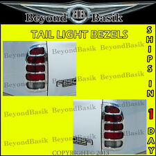 1997-2003 FORD F150 Fleetside Chrome Plated Tail Light Trim Bezel Lamp Cover