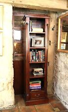 Chateau solid mahogany furniture tall narrow living room office bookcase