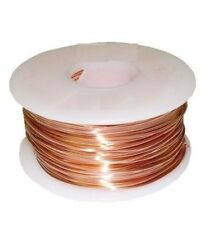 22 Ga Solid Copper Soft Round Wire 1/4 Lb. 128Ft. Spool  Real Copper wire