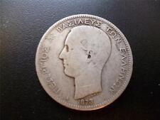 Grèce 1873 2 Drachmai monnaie argent, état passable. 1873 2 Drachmai pièce.