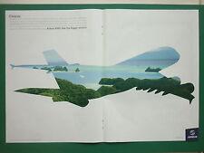 11/2007 PUB AVION AIRBUS A380 CLEANER AIRLINER AIRLINES ORIGINAL AD