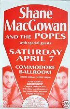 SHANE MacGOWAN & THE POPES 2001 CONCERT TOUR POSTER - Irish Celtic Punk, Pogues