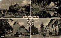 Saalfeld Saale AK ~1959 DDR Mehrbildkarte Markt Feengrotten Saaltor HOG Das Loch
