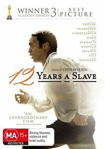 12 Years A Slave (DVD, 2014) brand new sealed - free post!