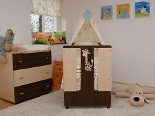 Paula Babybett Kinderbett komplett mit Bettwäsche, Matratze und Himmel