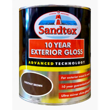 Sandtex Paint 750ml 10 Year Exterior Gloss Wood Metal 13 Colours