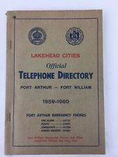 Vintage Lakehead Cities Official Telephone Directory 1959-1960 w/ Advertisements