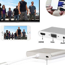 Light to AV HDMI TV VGA Audio Video Cable Adapter for Iphone 5 6 6S 7 7 plus