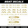 Maxum boot Aufkleber sticker XL set motorboot Bootaufkleber Segelboot Bootsport