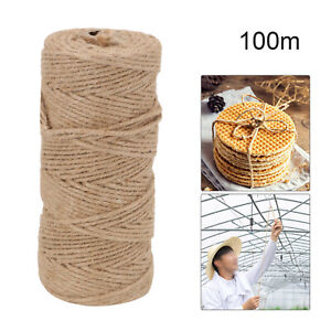 100m 3 Ply Natural Brown Soft JUTE TWINE Sisal String Rustic Cord Shabby