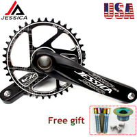 US 170 Crankset MTB Bike Crank GXP 32/34/36/38T Narrow Wide Chainring Chainwheel