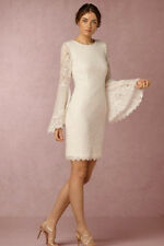 BHLDN Hitherto Short Ivory Wedding Dress Size 6