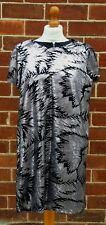WAREHOUSE Ladies Black Silver Sequin Cap Sleeve Dress Size UK 10 Polyester
