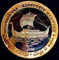 1998 Saharawi Arab D.R. - 1000 Silver Pesetas - Vikingo - Only 100 Coins Minted
