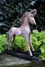 WOODEN ROCKING HORSE, Francese Shabby Chic-BELLISSIMO REGALO