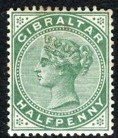 Gibraltar 1886/7 dull-green 1/2d crown CA mint SG8