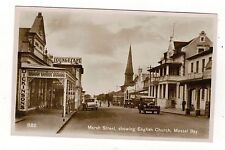 SOUTH AFRICA. MOSSEL BAY MARCH STREET SHOWING CHURCH  OLD R.P POSTCARD