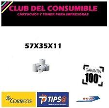 PACK 10 ROLLOS DE PAPEL TERMICO IMPRESORA TICKETS 57X35X11 MM