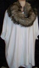 MICHAEL KORS CREAM PONCHO W/REMOVABLE FAUX FUR COLLAR NWT L@@K  SZ M MSRP $175
