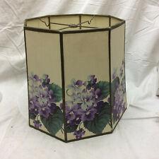 Vintage Lamp Shade with Violet Design