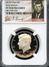 2018 S Clad Kennedy Half Dollar Early Releases NGC PF70 Ultra Cameo (Signature)