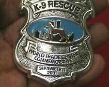 Unusual Series 4 <> Commerative World Trade Center  <> K-9 Rescue Badge