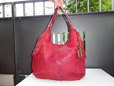 FOSSIL Damen Tasche Tragetasche Schultertasche Vintage Leder Rot TOP