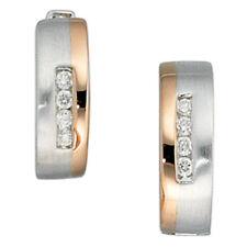Diamant-Ohrschmuck mit Schnappverschluss echten Edelsteinen