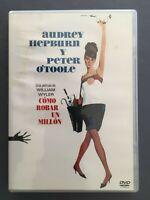 DVD COMO ROBAR UN MILLON Audrey Hepburn Peter O'Tole Chalers Boyer WILLIAM WYLER