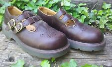 """Women's Dr. """"Doc"""" Martens Mary Janes Brown Leather Shoes Size 8"""