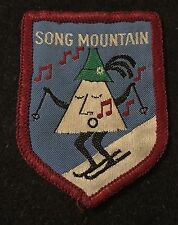 SONG MOUNTAIN Vintage Skiing Patch Tully NEW YORK NY Resort Souvenir Travel