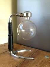 VINTAGE FRENCH CONA KB CO PARIS PYREX CAFETIERE RETORT STAND CLAMP LAMP UPCYCLE