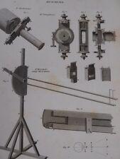 1820 GEORGIAN print OPTICS MICROMETER Troughton Maskelyne Herschel engraving