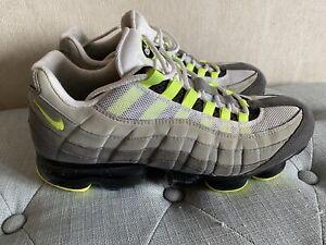 Nike Air Max 95 Vapormax Neon Volt AJ7292-001 Medium Grey Black Green 10.5