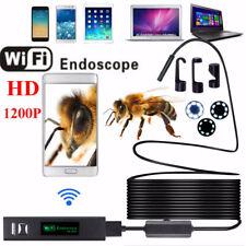 2M 8LED WiFi Endoscope 8mm Snake Tube Inspection Camera USB Borescope 8mm IP68